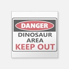 DANGER DINOSAUR AREA Sticker