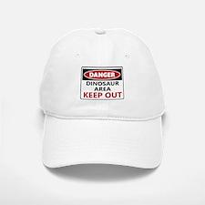 DANGER DINOSAUR AREA Baseball Baseball Cap