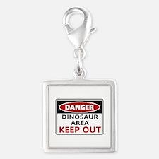 DANGER DINOSAUR AREA Charms