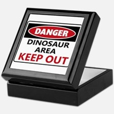 DANGER DINOSAUR AREA Keepsake Box