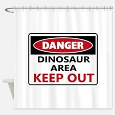 DANGER DINOSAUR AREA Shower Curtain