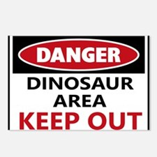 DANGER DINOSAUR AREA Postcards (Package of 8)
