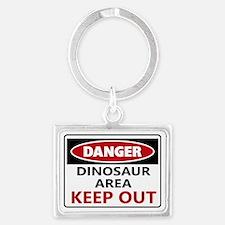 DANGER DINOSAUR AREA Keychains