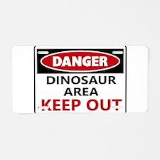 DANGER DINOSAUR AREA Aluminum License Plate
