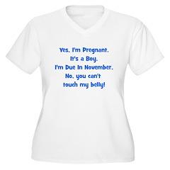 Pregnant Boy due November Bel T-Shirt