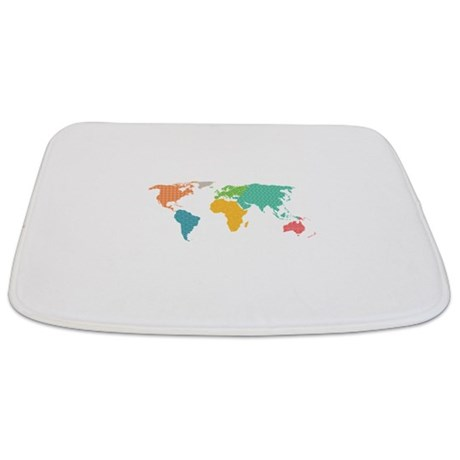 World Map Bathmat