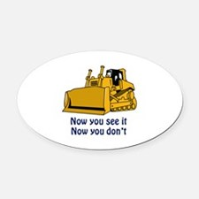 Now You See It Oval Car Magnet