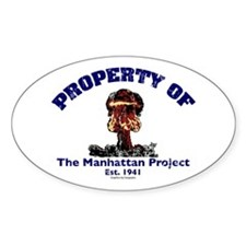 Manhattan Project Oval Decal