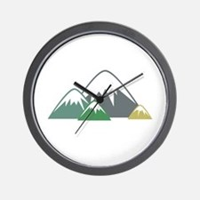 Candy Mountains Wall Clock