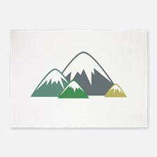 Candy Mountains 5'x7'Area Rug