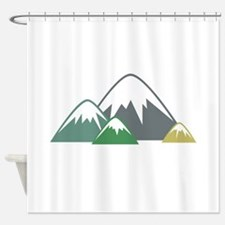 Candy Mountains Shower Curtain
