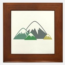 Candy Mountains Framed Tile