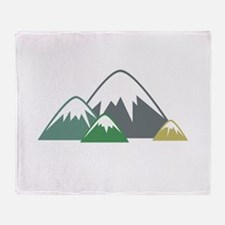 Candy Mountains Throw Blanket
