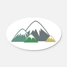 Candy Mountains Oval Car Magnet