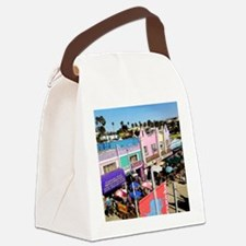 Pastel Row Canvas Lunch Bag