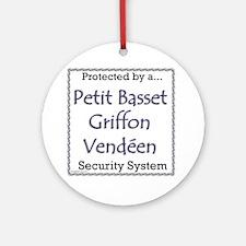 PBGV Security Ornament (Round)