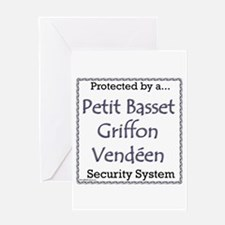 PBGV Security Greeting Card