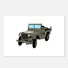 WWII Army Jeep Postcards (Package of 8)
