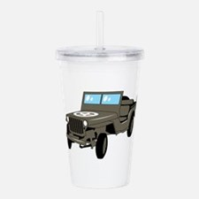 WWII Army Jeep Acrylic Double-wall Tumbler