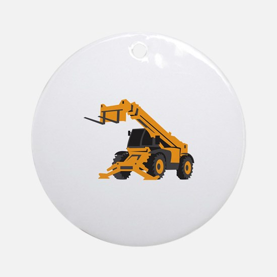 Front End Loader Round Ornament