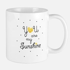 You are my sunshine - gold Mugs