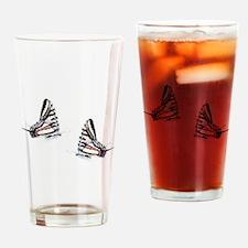 zebra swallowtails together Drinking Glass
