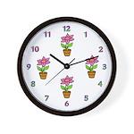 Petal Planters Wall Clock