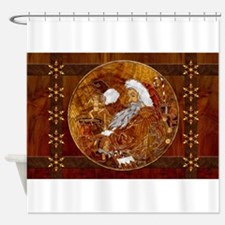 Harvest Moons Marquetry Shower Curtain