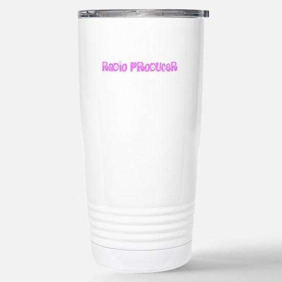 Radio Producer Pink Flower Design Mugs