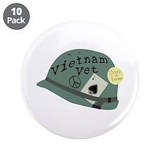 """Vietnam Vet 3.5"""" Button (10 pack)"""