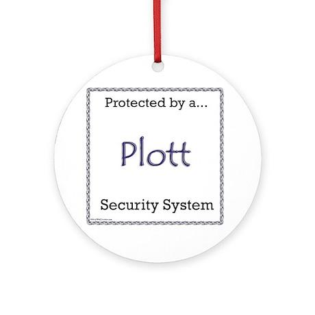 Plott Security Ornament (Round)