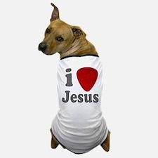 I Heart Jesus Guitar Pick Dog T-Shirt