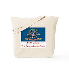 North Dakota State Flag Tote Bag