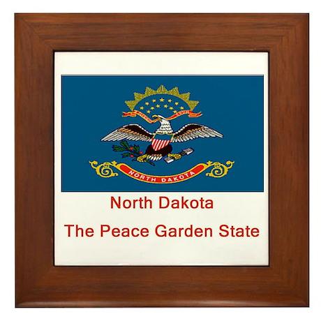 North Dakota State Flag Framed Tile