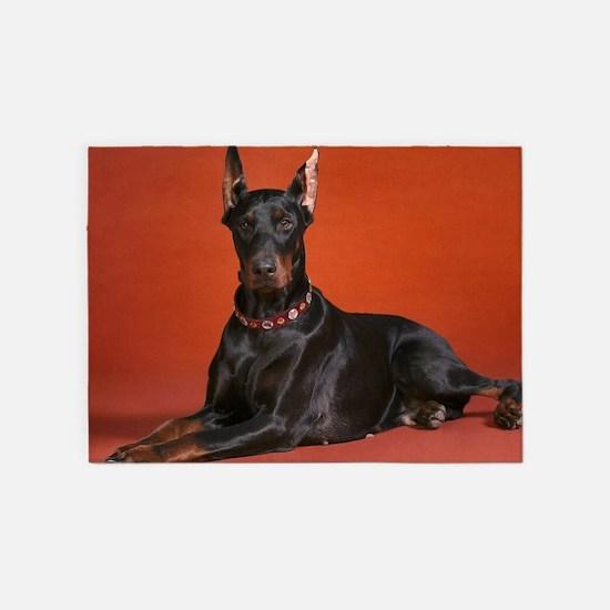 Beautiful Doberman 5'x7'Area Rug