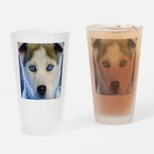 Husky Puppy Drinking Glass