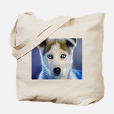 Husky Puppy Tote Bag