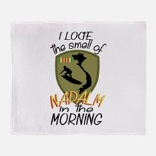 Smell Of Napalm Throw Blanket
