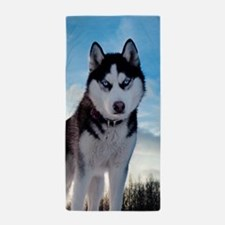 Husky Dog Outdoors Beach Towel