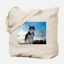 Husky Dog Outdoors Tote Bag