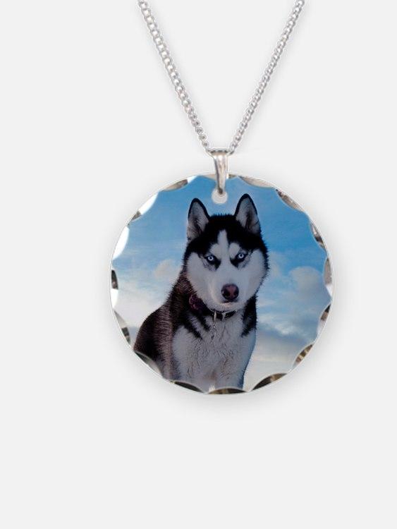 Husky Dog Outdoors Necklace