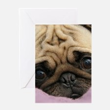 Cute Pug Greeting Cards