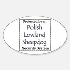 Lowland Security Oval Decal