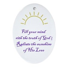 Sunshine of God's love Oval Ornament