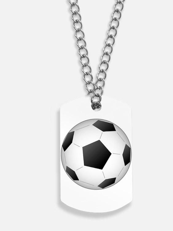 Soccer Ball Dog Tags
