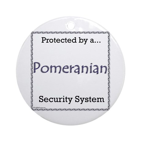 Pomeranian Security Ornament (Round)