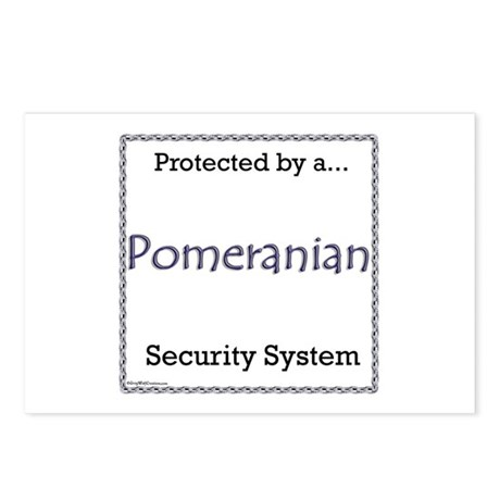 Pomeranian Security Postcards (Package of 8)