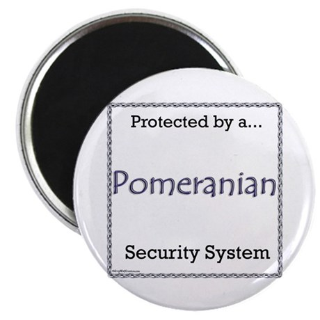 Pomeranian Security Magnet