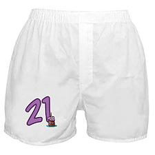 21 Cake Boxer Shorts