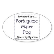PWD Security Oval Decal